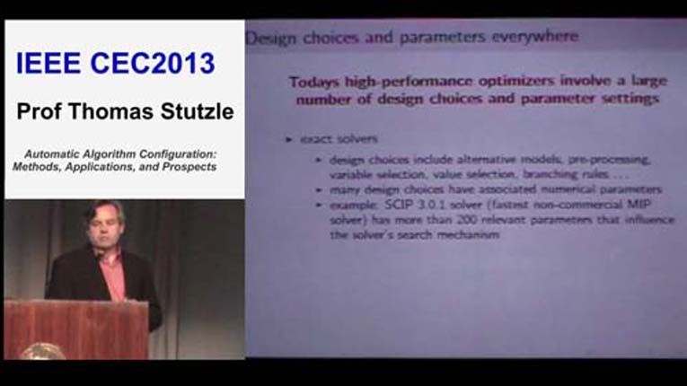 CEC2013-Plenary2-Automated Algorithm Configuration: Methods, Applications and Prospects