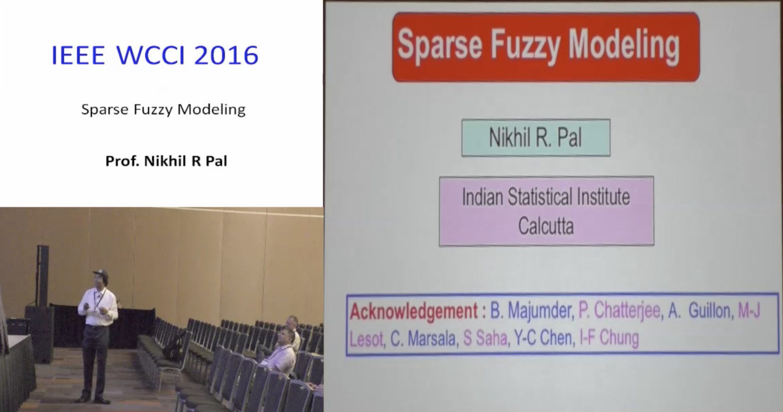 Sparse Fuzzy Modeling - Nikhil R Pal - WCCI 2016