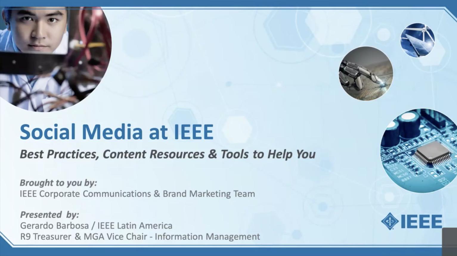 Leveraging IEEE Social Media [en español]