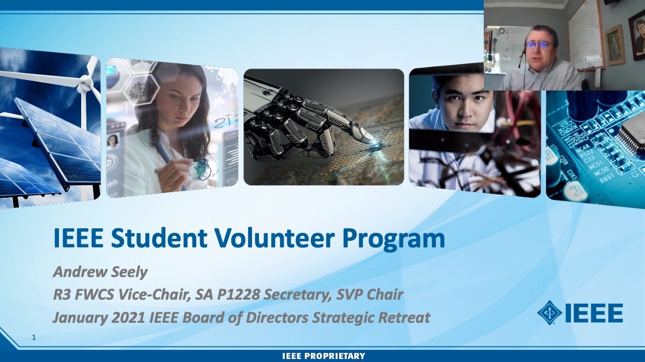 Andrew Seeley - IEEE Student Volunteer Program - Day 1: 2021 IEEE Board of Directors Strategic Retreat