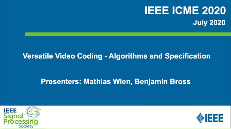 Versatile Video Coding - Algorithms and Specification
