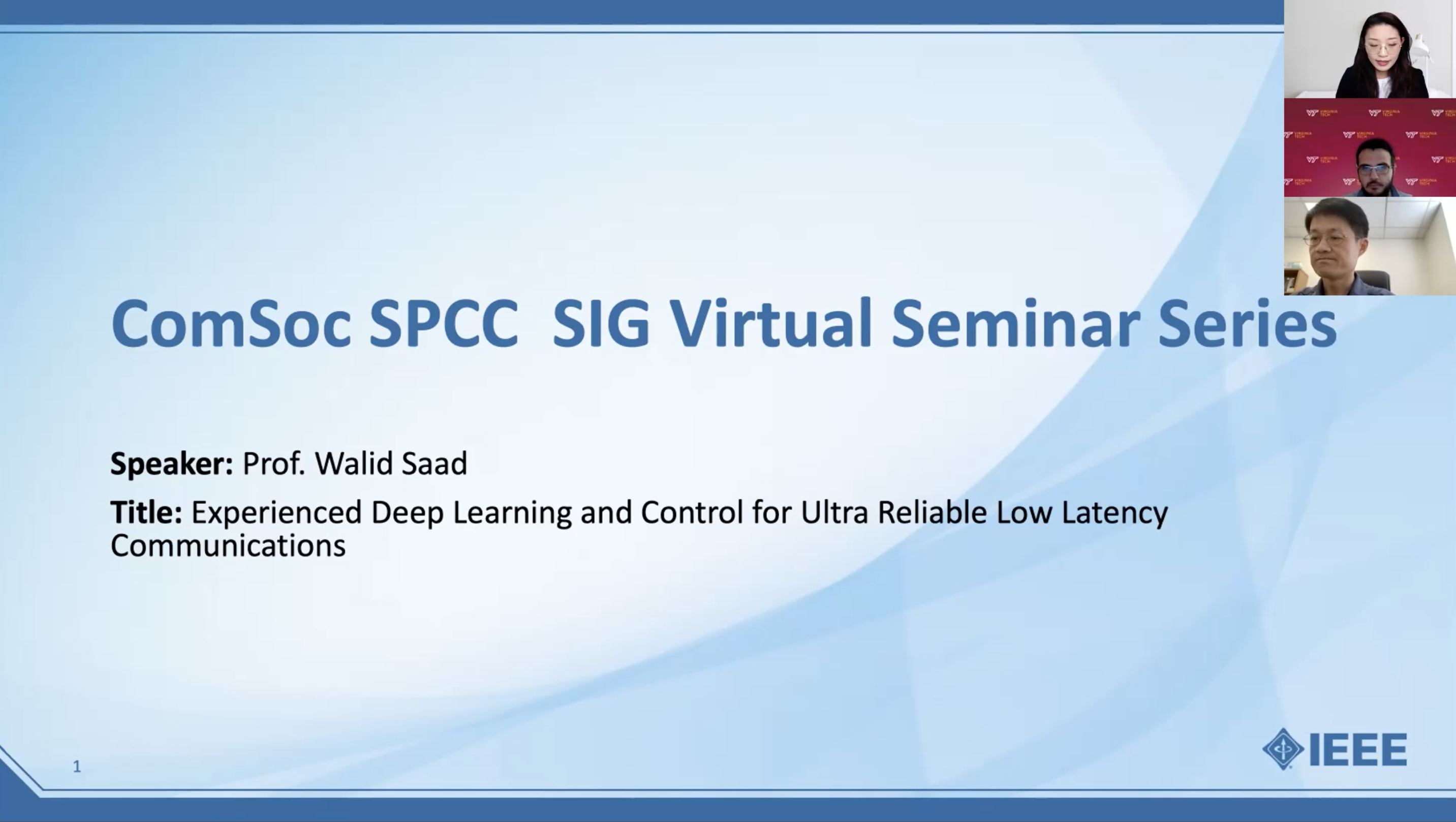 """Talk on """"Experienced Deep Learning & Control of URLL Communications"""""""
