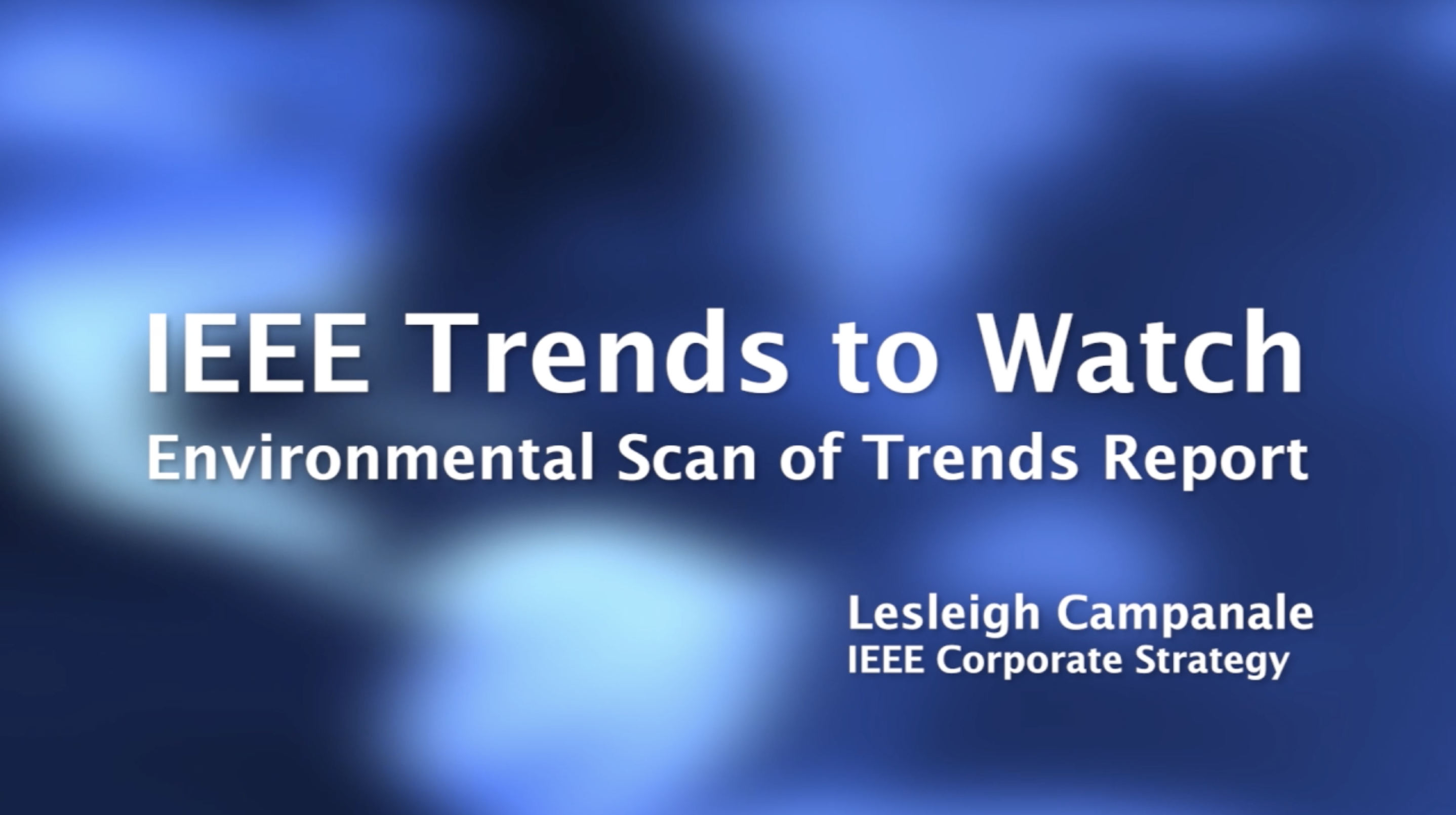 Trends to Watch - Strategic Retreat 2021